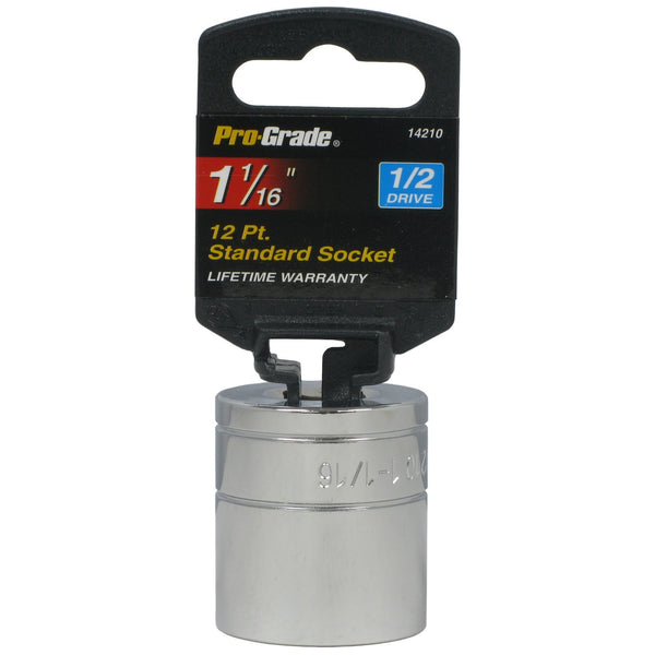 "Choose Your Size - 1/2"" Drive Standard Shallow Socket from 5/8 to 1-1/8"""