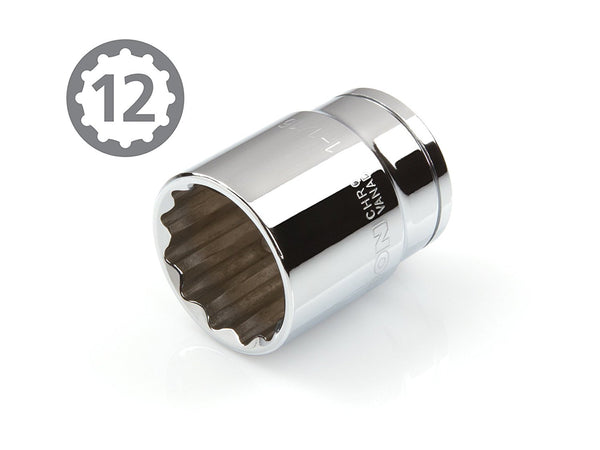 1/2-Inch Drive by 1-1/16-Inch Shallow Socket 12 Point Slim Wall TEKTON 14222