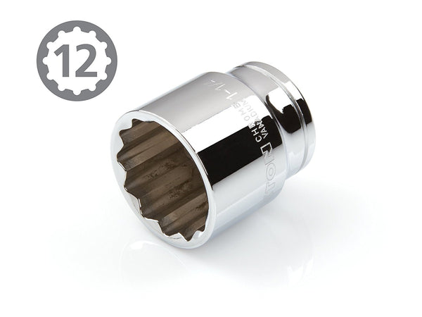 1/2-Inch Drive by 1-1/4-Inch Shallow Socket 12 Point Slim Wall TEKTON 14224