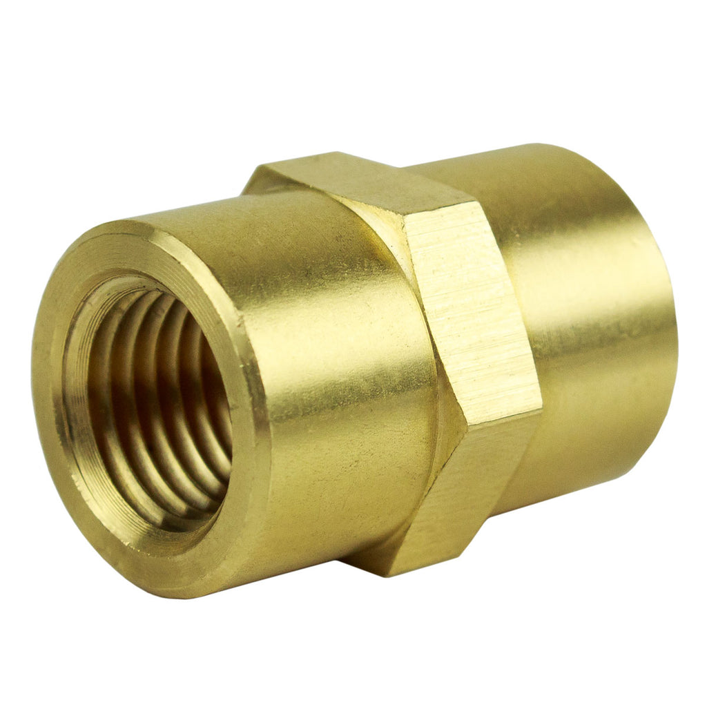 "1/4"" NPT Female Solid Brass Pipe Union Adapter Fitting WOG Solid Connector"