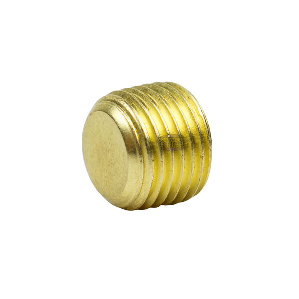 "1/8"" Pipe Plug Countersunk Hex Head Style Male NPT Brass Pipe End Fitting Cap"