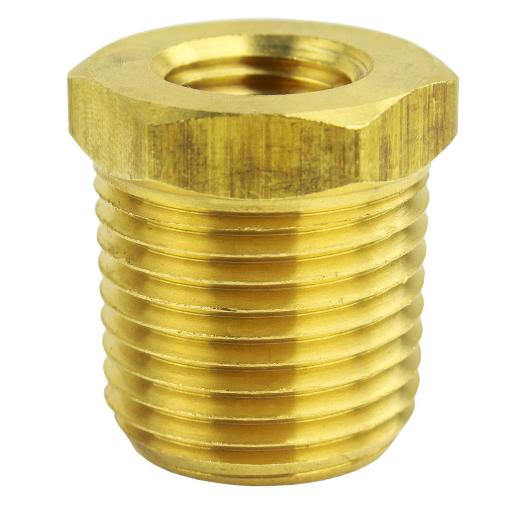"1/2"" MNPT x 1/4"" FNPT Solid Brass Bushing Reducer Fitting Reducing Adapter"