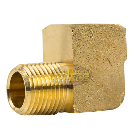 "Street Elbow 90 Degree 1/2"" Male NPT x 1/2"" Female NPT Brass Pipe Connector"