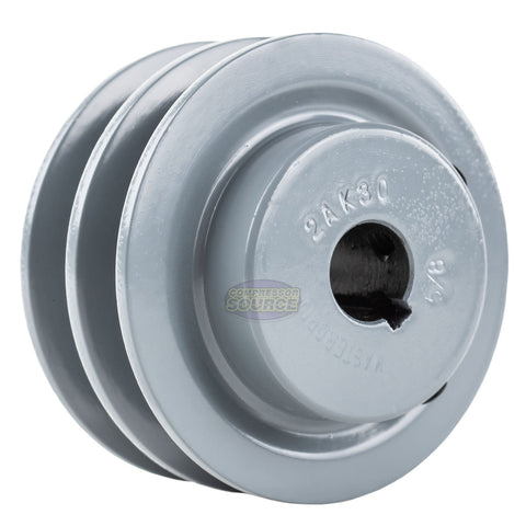 """1-3//4/"""" Cast Iron 5//8/"""" Shaft Pulley Sheave Single 1 Groove V Style A Belt 4L"""