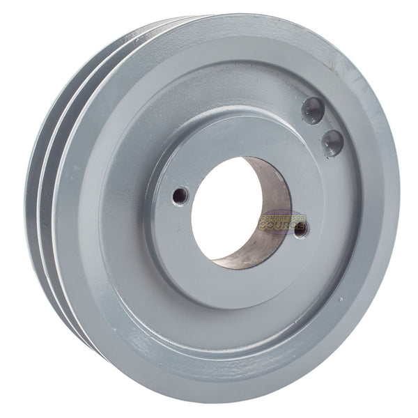 "Cast Iron 5.5"" 2 Groove Dual Belt A Section 4L Pulley With 3/4"" Sheave Bushing"