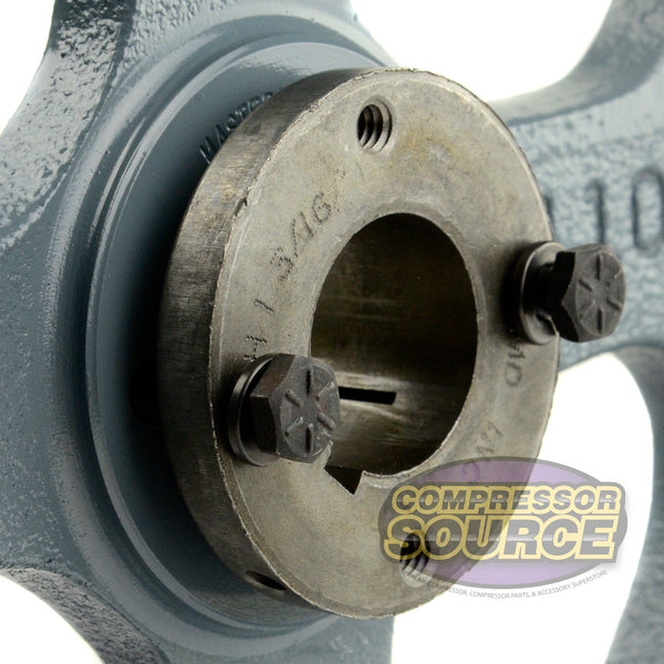 "10.75"" Cast Iron Dual Groove Pulley B Belt (5L) Style with 1-3/16"" Bore H Bushing"