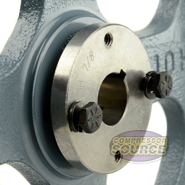 "10.75"" Cast Iron Dual Groove Pulley B Belt (5L) Style with 7/8"" Bore H Bushing"