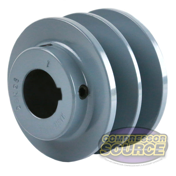 "3"" Cast Iron Dual Groove Pulley B Belt (5L) Style for 1"" Shaft"