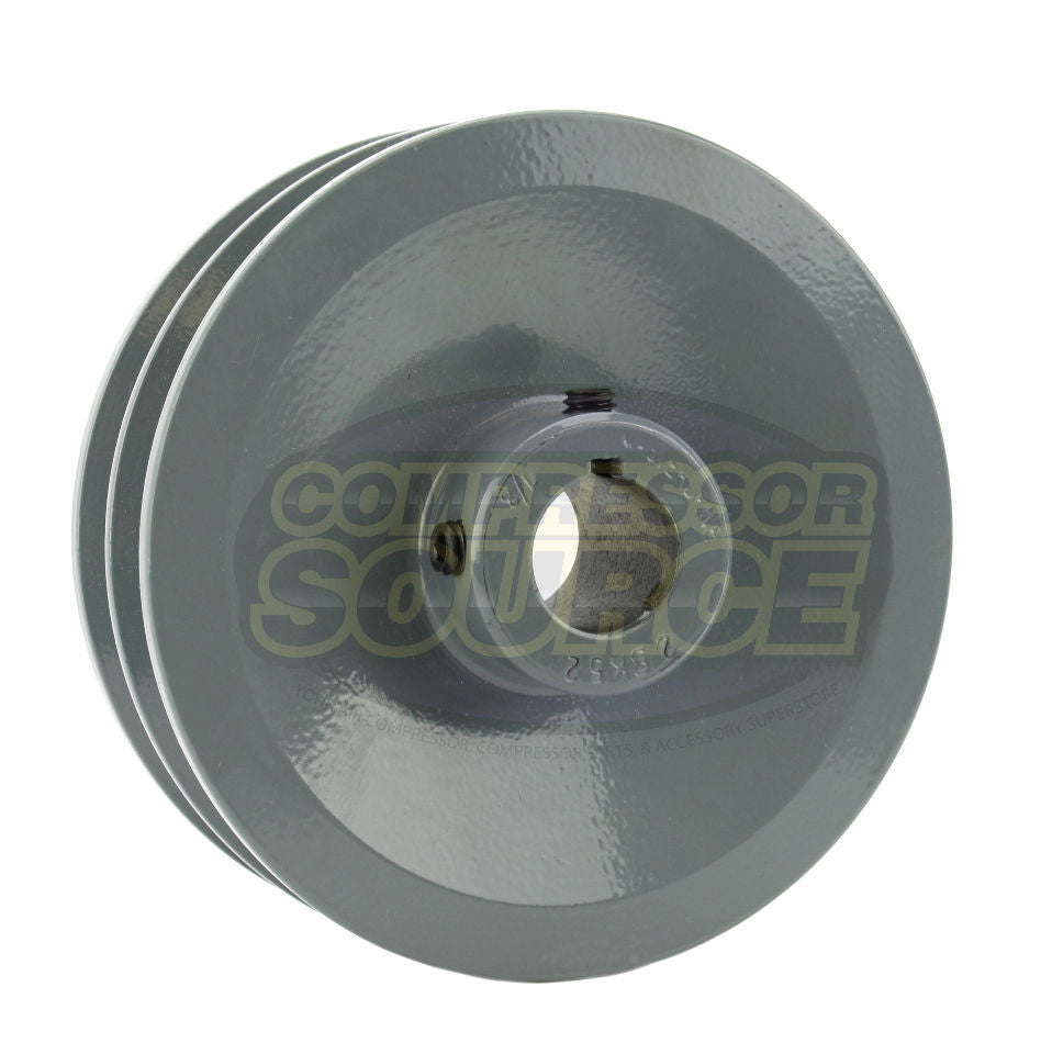 "5"" Cast Iron Dual Groove Pulley B Belt (5L) Style for 7/8"" Shaft"