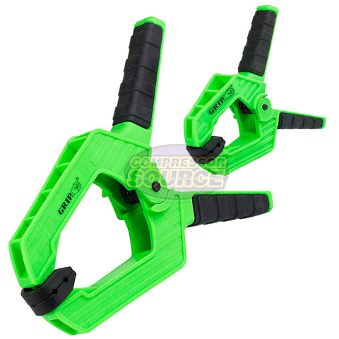 "1 Pair Heavy Duty 9"" and 4"" Spring Clamps Ergonomic Anti Slip Handles Grip Tools"
