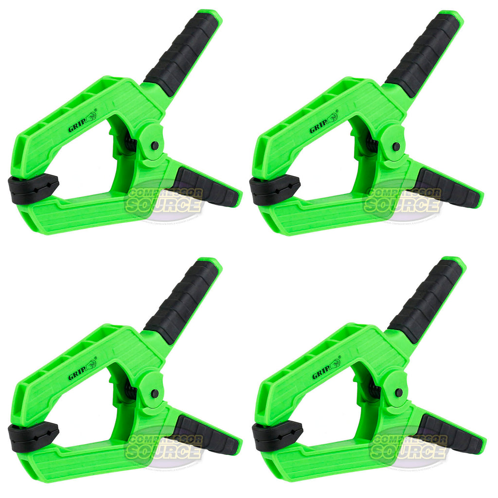 "4 Heavy Duty 9"" Wide Jaw Spring Clamp Thermoplastic Anti-Slip Grip Tools 34009"
