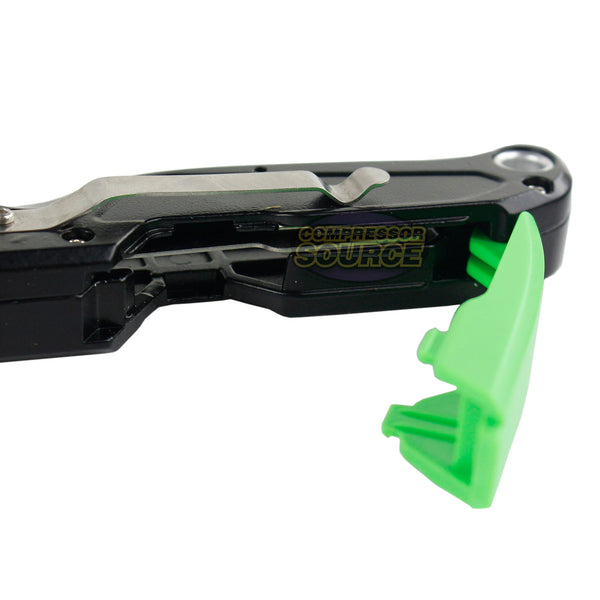 GRIP Tools Quick Release Folding Retractable Utility Knife 11 Razor Blades