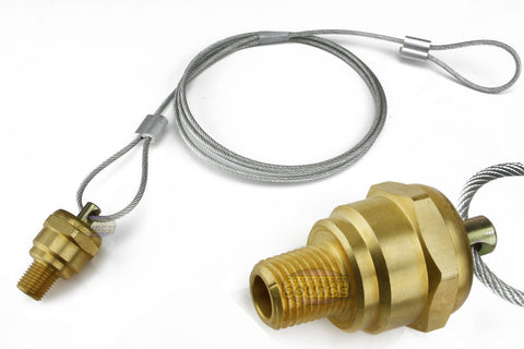 "1/4"" Air Compressor Tank Moisture Pull Cable Drain Valve Brass Quality USA Made"