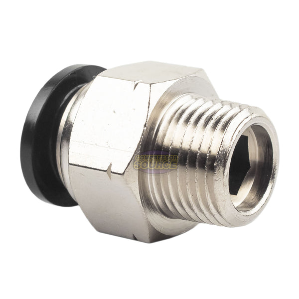 "RAPIDAIR 3/8"" Male NPT Straight Push Lock Fitting 50100"