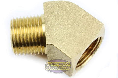"Rapid Air 45° Degree 1/4"" NPT Pipe Thread Brass Street Elbow Fitting USA 50130"