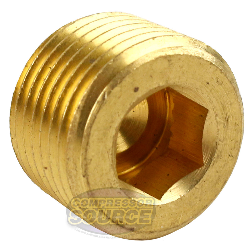"3/8"" Brass Male NPT Thread Allen Head Pipe Plug Hex Socket RapidAir 50135"