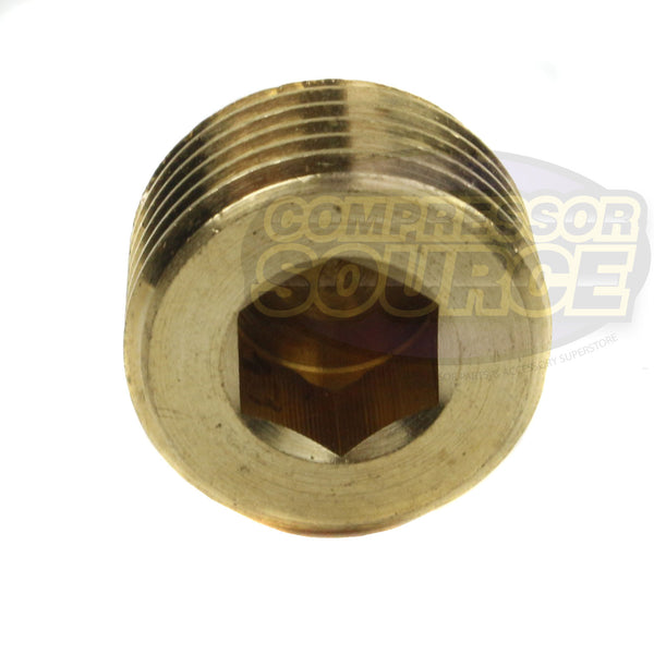 "1/2""  Brass Male NPT Counter Sunk Head Plug Interal Hex Socket RapidAir 50136"