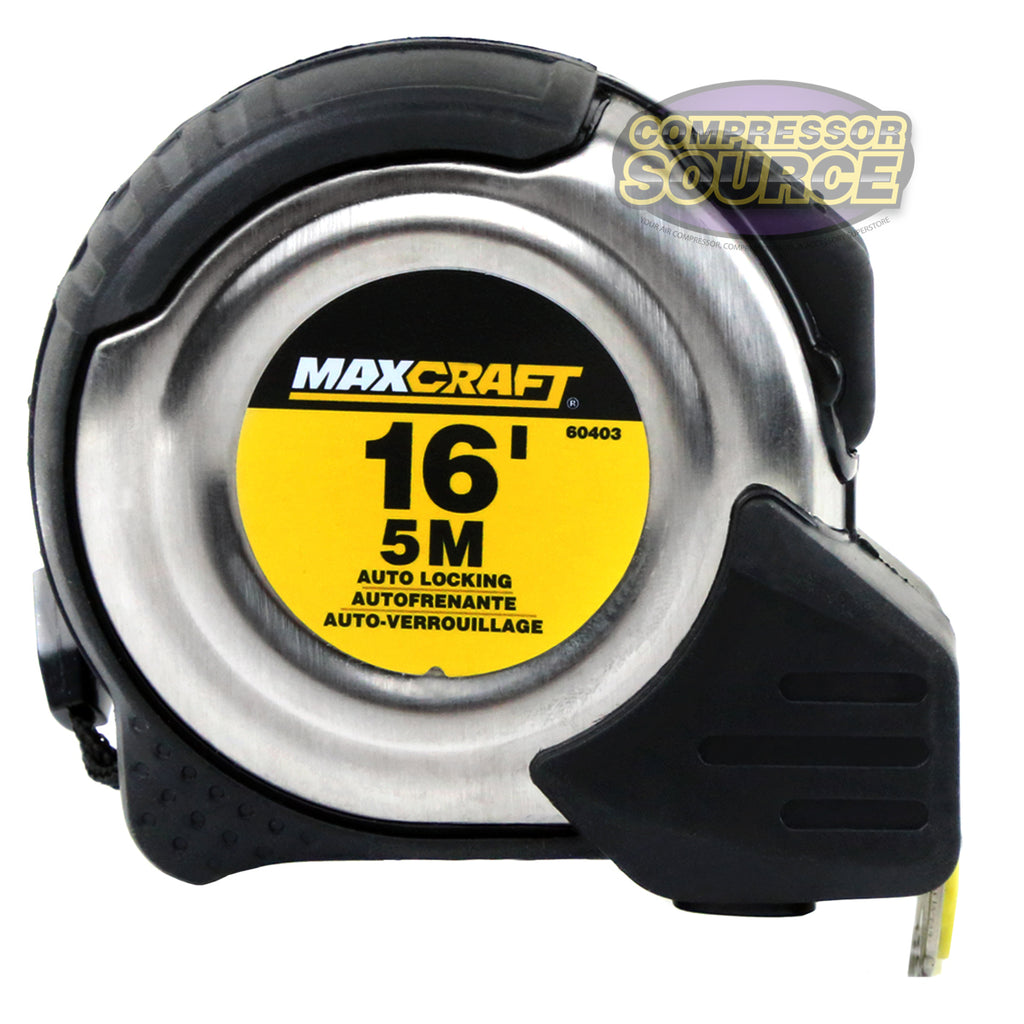 Maxcraft 60403 16-Foot by 3/4-Inch Auto Locking Tape Measure Metric & Standard