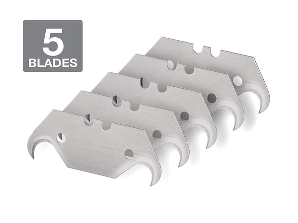 Utility Knife Hook Blades 5 Piece Pack Tekton 6922 Universal Replacement .024 in