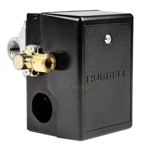 4 Port Hubbell 69JF9LY2C 140-175 PSI Air Compressor Pressure Switch
