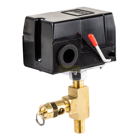 Aftermarket Replacement Pressure Switch for Craftsman Air Compressors 919.165310 with Relief Valve 95-125 PSI