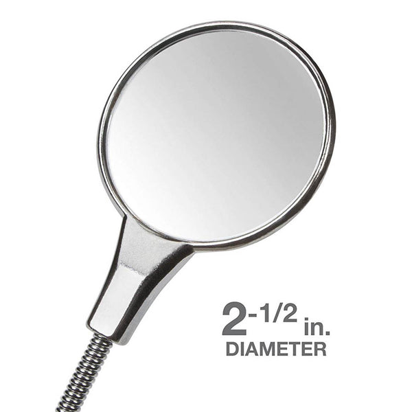 "Cushion Grip 19"" Flexible Inspection Mirror Chrome Plated Steel TEKTON 7613"
