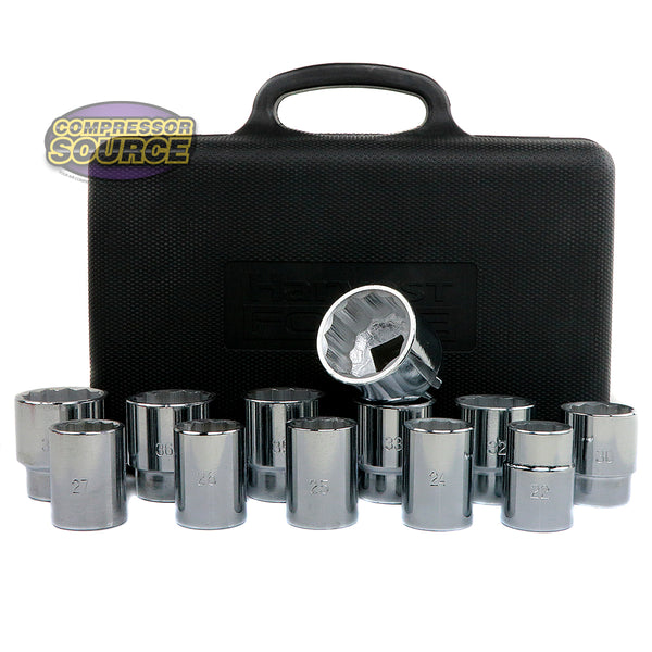 "12 Pc 3/4"" Drive Socket Set Large 12 Point Metric 22-41mm Sizes Harvest Forge"