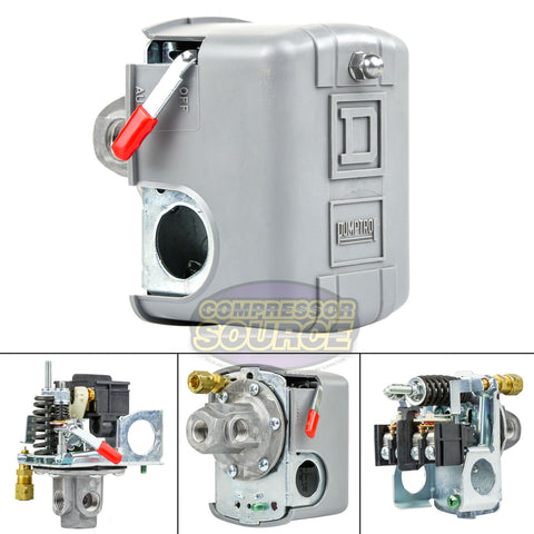 SQUARE D 4 Port 135-175 PSI Air Compressor Pressure Switch 9013FHG44J59M1X