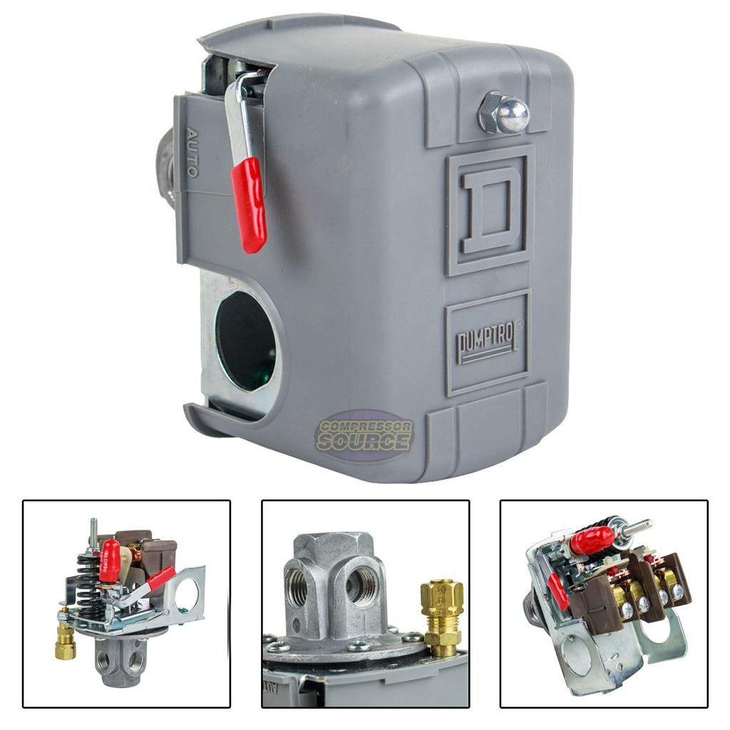 PRESSURE SWITCH AIR COMPRESSOR 4 PORT REPLACES HUBBELL FURNAS SQUARE D