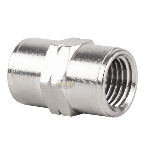 "1/4"" NPT Female Nickel Plated Brass Pipe Union Adapter Fitting Solid Connector"