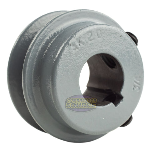 "2"" Cast Iron 3/4"" Shaft Pulley Sheave Single 1 Groove V Style A Belt 4L New"