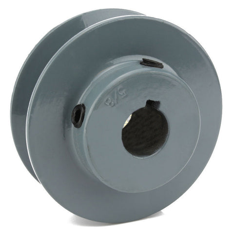 "2.5"" Cast Iron Single Groove Pulley A Belt (4L) Style 5/8"" Shaft"