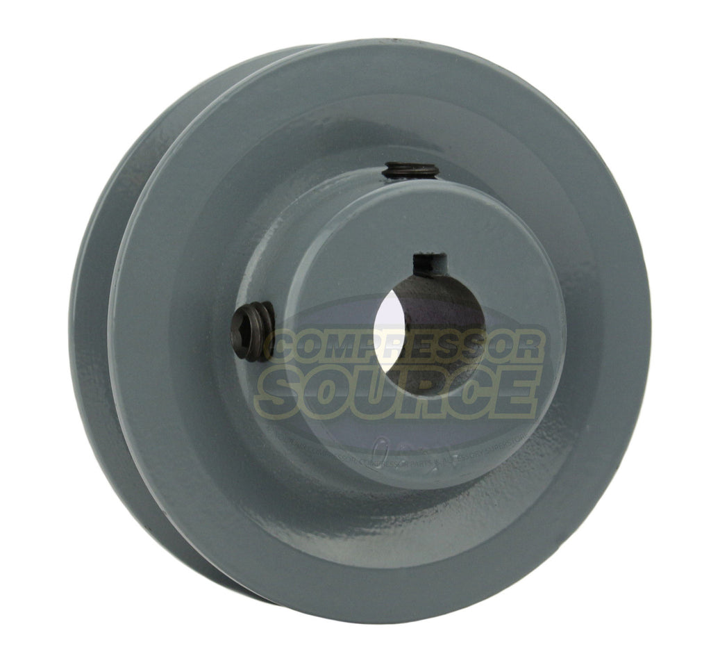 "3"" Cast Iron Single Groove Pulley A Belt (4L) Style 3/4"" Shaft"