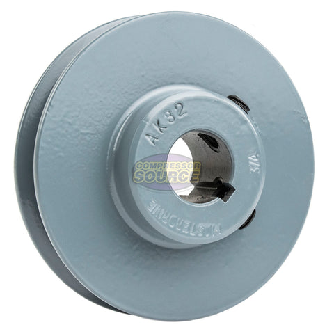 "3.25"" Cast Iron Single Groove Pulley A Belt (4L) Style 3/4"" Shaft"