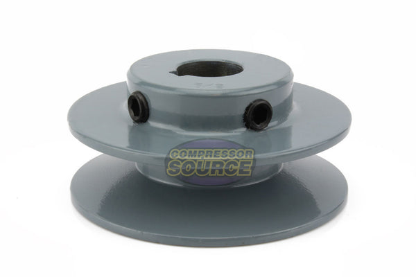 "3.25"" Cast Iron Single Groove Pulley A Belt (4L) Style 5/8"" Shaft"