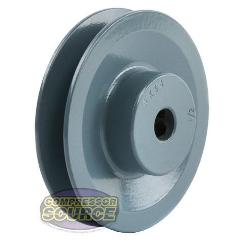 "3.50"" Cast Iron Single Groove Pulley A Belt (4L) Style 1/2"" Shaft"