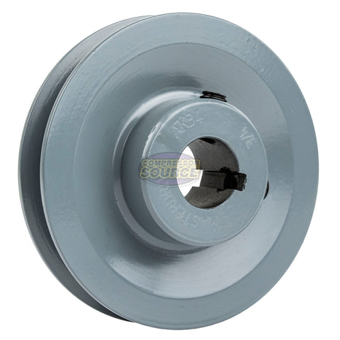 "3.5"" Cast Iron Single Groove Pulley A Belt (4L) Style 3/4"" Shaft"
