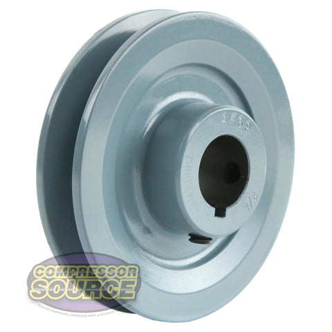 "3.75"" Cast Iron Single Groove Pulley A Belt (4L) Style 7/8"" Shaft"
