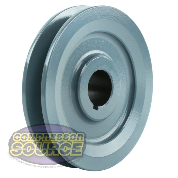 "4"" Cast Iron Single Groove Pulley A Belt (4L) Style 7/8"" Shaft"
