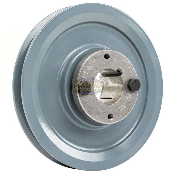 "5.75"" 2 Piece Cast Iron Single Groove Pulley B Belt (5L) Style 1-3/16"" Shaft BK60H"