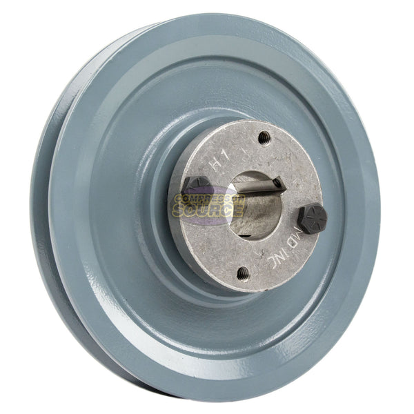 "5.75"" 2 Piece Cast iron Single Groove Pulley B Belt (5L) Style 1"" Shaft BK60H"