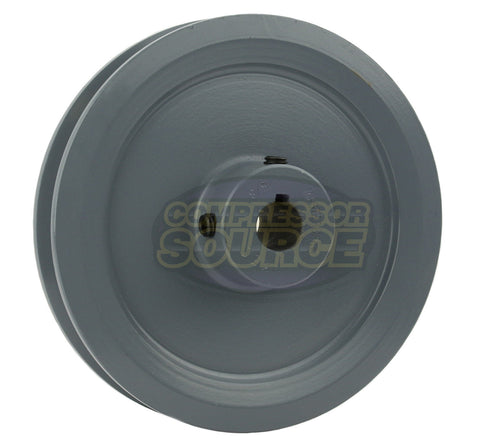 "5.75"" Cast Iron Single Groove Pulley A Belt (4L) Style 5/8"" Shaft"