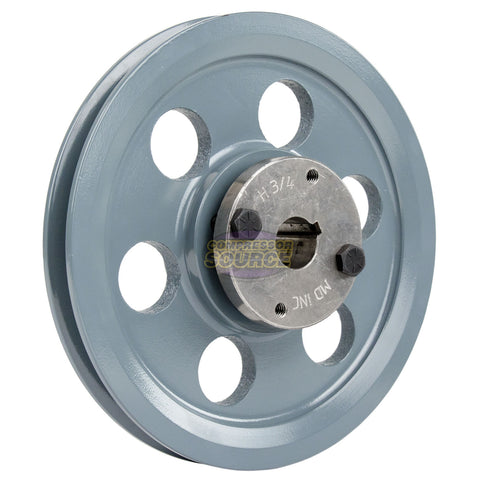 "2 Piece Cast Iron 7.75"" Single 1 Groove Belt A Section 4L Pulley With 3/4"" Sheave Bushing AK79H"