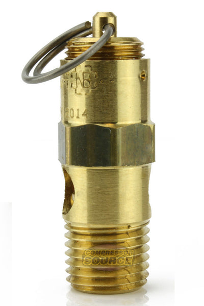 "250 PSI 1/4"" Male NPT Air Compressor Pressure Relief Safety Pop Off Valve Solid Brass"
