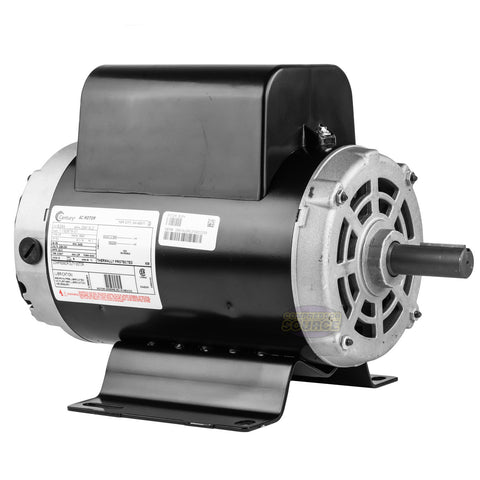 Century 5 HP 3450 RPM Air Compressor Electric Motor 60 Hz 208-230 Volts B384 56Y