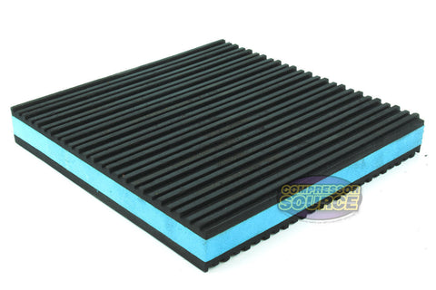"One New Industrial Anti Vibration Pad 6"" x 6"" x 7/8"" Thick Blue Composite Center"