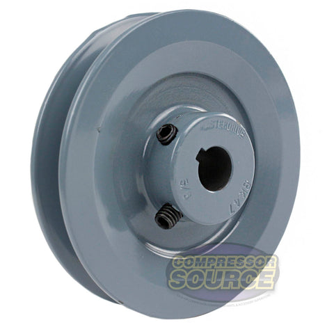 "4.5"" Cast Iron Single Groove Pulley B Belt (5L) Style 5/8"" Shaft"