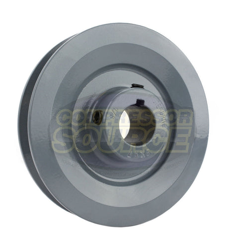 "4.5"" Cast Iron Single Groove Pulley B Belt (5L) Style 7/8"" Shaft"