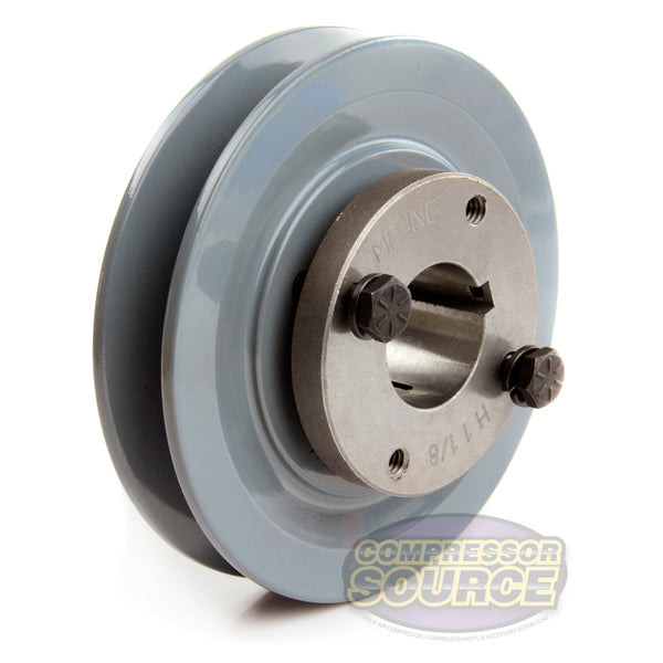 "4.5"" Cast Iron Single Groove Pulley B Belt (5L) Style 1-1/8"" Shaft BK47H"