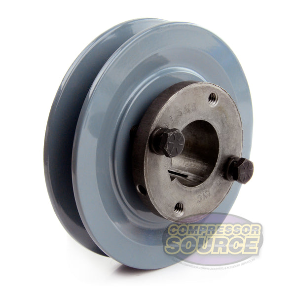 "4.5"" Cast Iron Single Groove Pulley B Belt (5L) Style 1-3/16"" Shaft BK47H"